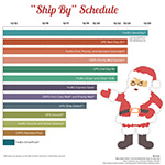 """[Infographic] 2014 Guide to Holiday Shipping Carrier Changes & """"Ship By"""" Schedules"""